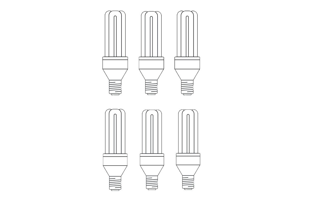 KIT 6 BULB 25W COLD WHITE LIGHT